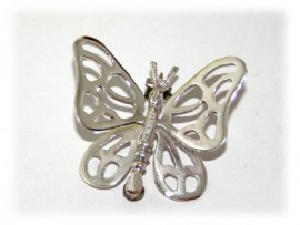 Broche Papillon Délicat Argent