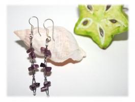 Boucles d'Oreilles - Boucles d'oreilles améthyste et
