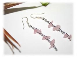 Boucles d'Oreilles - Boucles d'oreilles quartz rose