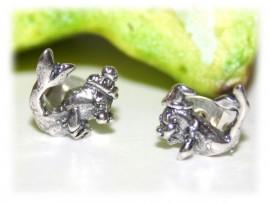 Boucles d'Oreilles Otaries Argent
