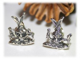 Boucles d'Oreilles Argent - Boucles d'oreilles lapin