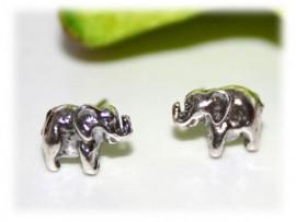 Boucles d'Oreilles Eléphants Argent