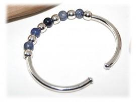 Bracelet Sodalite, Bijou Argent