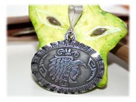 Pendentifs Argent - Pendentif aztèque oval