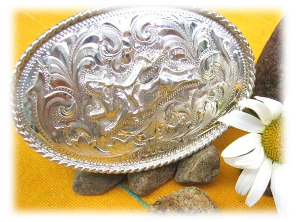 Bijoux Western Argent : Boucle de ceinture taureau western argent tous nos bijoux