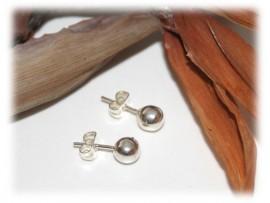 Boucles d'Oreilles Petites Perles en Argent