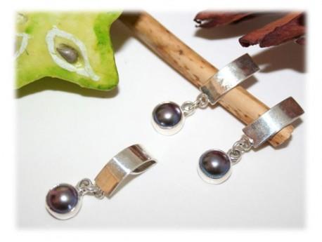 Parure Perle d'Eau Douce Argent Perle d'eau douce