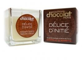 Idées Cadeaux pour Elle - Bougie de massage chocolat noisette + lait corps offert