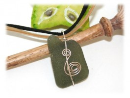Colliers - Collier seaglass vert