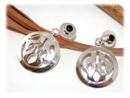 Bijoux Ethniques - Boucles d'oreilles onyx