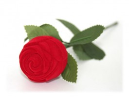 Ecrin à bijou rose rouge