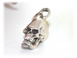Pendentif Tête de Mort 3D Argent