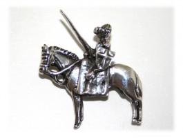 Broche Cheval - Broche chevalier moyen age