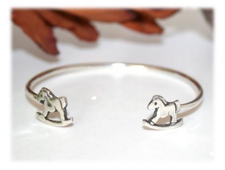 Bracelet Enfant Cheval à bascule Argent Cheval