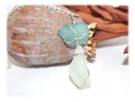 Bijoux Recyclage Ecologie - Collier verre dépoli par la mer