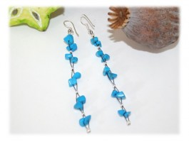 Boucles longues turquoise