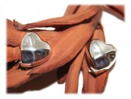 Bijoux Coeurs - Boucles d'oreilles clip coeur