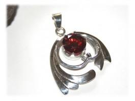 Bijoux Saint-Valentin - Pendentif rouge glamour