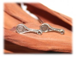 Boucles d'Oreilles Argent - Boucles d'oreilles raquette de tennis