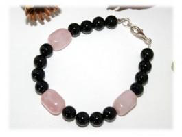 Bracelet Quartz - Bracelet, onyx quartz rose