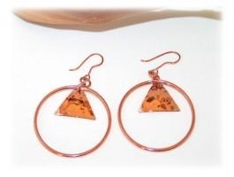 Boucles oreilles pendantes cuivre