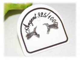 Boucles d'Oreilles Argent - Boucles d'oreilles colibri
