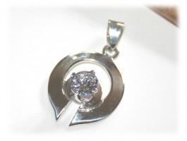 Pendentifs Argent - Pendentif glamour diamant