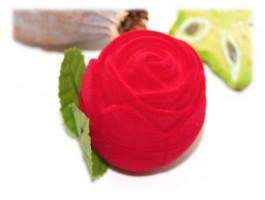 Bijoux Mariage ou Fiançailles - Ecrin rose rouge