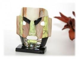 Bijoux Ethniques - Masque aztèque pierres naturelles