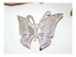 Broches Argent - Broche papillon