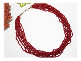 Colliers - Collier somptueux corail bambou
