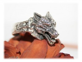 Bijoux Homme - Bague loup unique