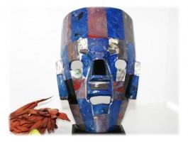 Bijoux Ethniques - Masque aztèque pierres naturelles 19.5 x 15.5