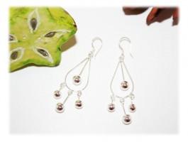 Boucles d'Oreilles - Boucles d'oreilles perles pendantes