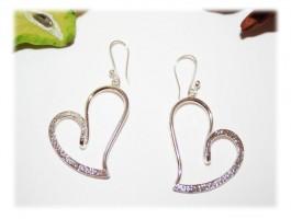 Boucles d'Oreilles Pendantes - Boucles d'oreilles coeur somptueux
