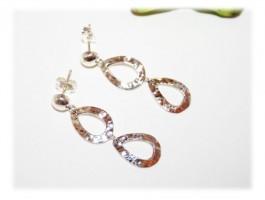 Boucles d'Oreilles - Boucles d'oreilles pendantes martelées