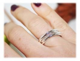 Bijoux Communion ou Célébration - Bague ou alliance 5 anneaux en