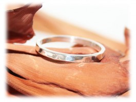 Idées Cadeaux pour Elle - Bague anneau alliance martelée