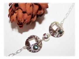 Bracelet Argent et Nacre Naturelle
