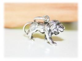 Pendentif Lion 3D argent massif