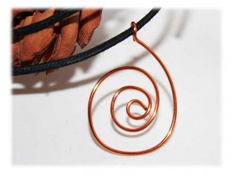 Pendentif Spirale Cuivre