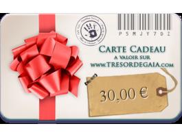 Cartes et Chèques Cadeaux - Carte cadeau bijoux de 30 euros