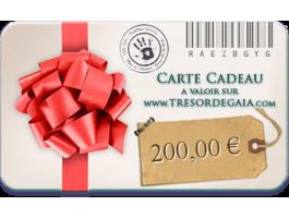 Cartes et Chèques Cadeaux - Carte cadeau bijoux de 200 euros