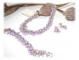 Parure de Bijoux Perles Eau Douce Argent