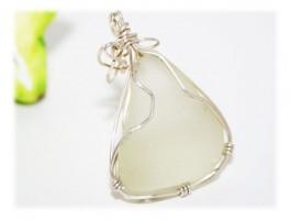 Pendentif Seaglass Somptueux Argent 925