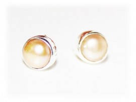 Boucles d'oreilles Perles Naturelles sur argent
