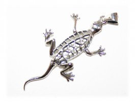 Pendentif Salamandre Ciselé Grand Modèle