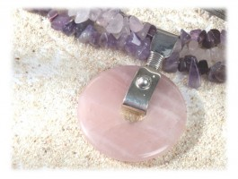 Collier Améthyste - Collier améthyste quartz rose